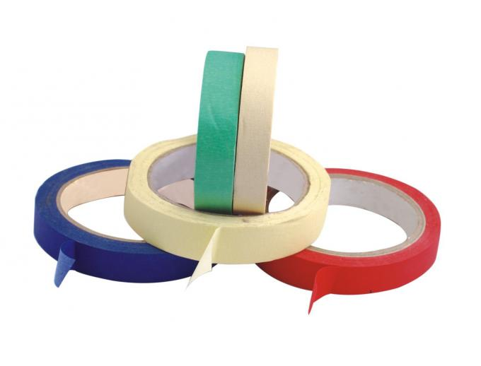 Decorative Low Tack Masking Tape , Blue Painters Masking Tape Rubber Adhesive