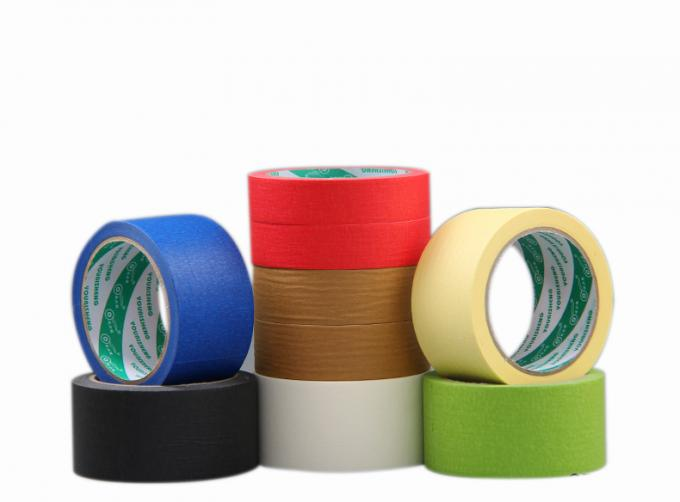Crepe Paper Colored Masking Tape With High Temperature Silicone