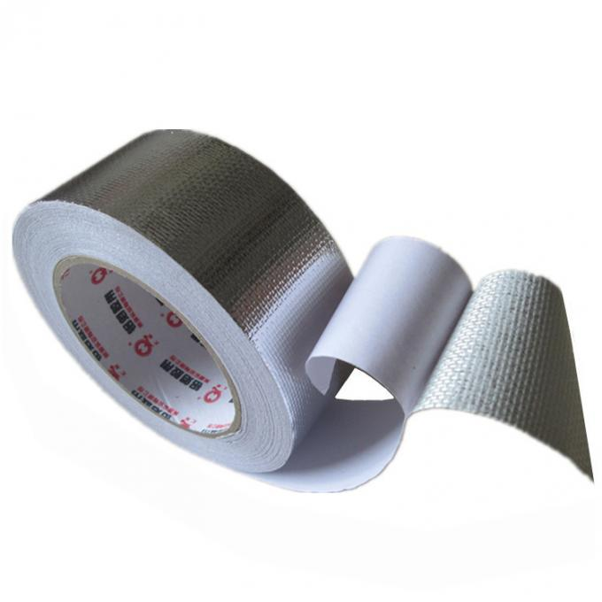 One Side High Temperature Aluminum Foil Tape With Silicone Coated Glassine Release Paper