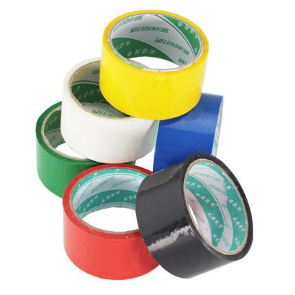 Stable 48mm Red PVC Packing Tape , Light Weight Custom Printed Parcel Tape