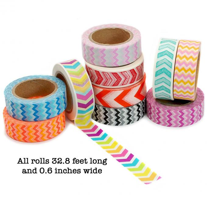 Scrapbooking Writing Custom Printed Washi Tape Waterproof Environment Friendly
