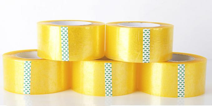 Clear Self Adhesive Solvent Based Acrylic Booo Tape , Stoch Tape Long Term Adhesion