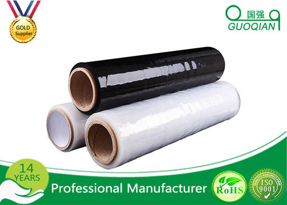 Custom Stretch Black Pallet Wrap Film 1-100mic Thickness For Food / Glass Package