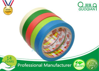 Rubber Glue Masking Colored Masking Tape Colorful General Purpose 19mm x 35 Meter Crepe