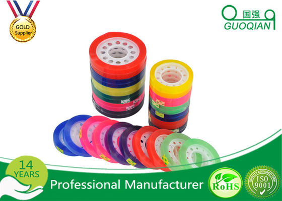 Custom Colorful Sticky BOPP Stationery Tape Water based For Office Sealing