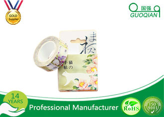 Custom Printed BOPP Stationery Tape DIY Washi Paper Tape Acrylic Adhesive
