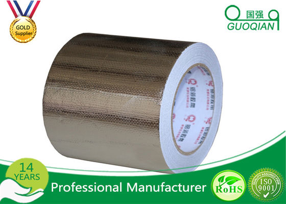 China Reinforced Aluminium Foil Tape Heat Resistance , High Temperature Foil Tape Hot Melt supplier