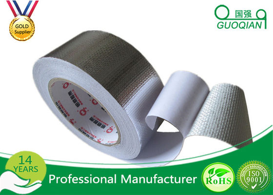 China One Side High Temperature Aluminum Foil Tape With Silicone Coated Glassine Release Paper supplier