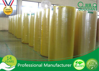 Transparent Bopp PVC Film Roll , Water Activated Packing Tape Jumbo Roll 980/1280/1620mm