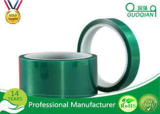 Green Insulated Electrical Tapes 200C No Printing For Paint Masking