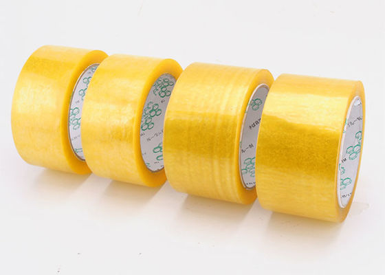 China Clear Self Adhesive Solvent Based Acrylic Booo Tape , Stoch Tape Long Term Adhesion supplier