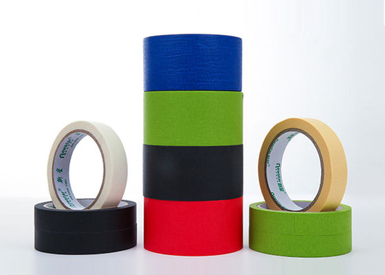 China Rubber Glue Masking Colored Masking Tape Colorful General Purpose 19mm x 35 Meter Crepe supplier