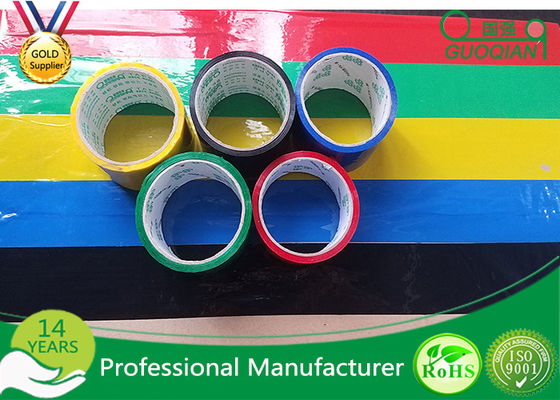 BOPP Film Coloured Packaging Tape , Water Based Acrylic Adhesive Tape