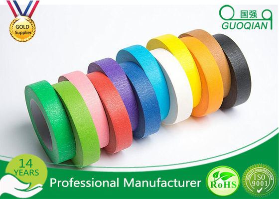 High flexibility Rainbow Coloured Masking Tape For Painting , Easy To Remove